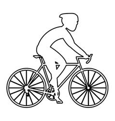 Person riding a bike vector