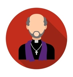 Priest icon in flat style isolated on white vector image vector image