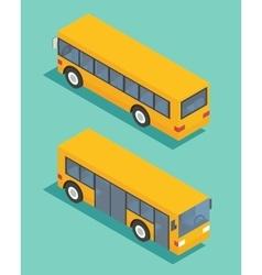 Public transport bus transportation icon flat vector