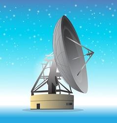 Satellite dish snowflake background vector