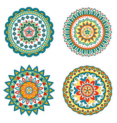 set of colorful mandalas vector image vector image
