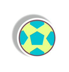 Stylish icon in paper sticker style soccer ball vector