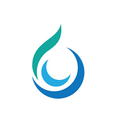 swirl waterdrop style logo vector image