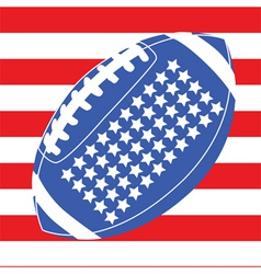 usa football flag 1 vector image vector image