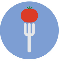 vegetarian food icon vector image vector image