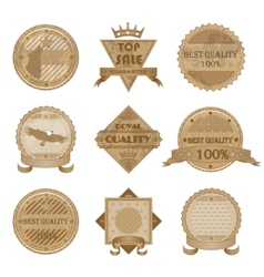 Worn retro abstract signs sale and discount badges vector