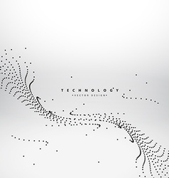 Mesh dots wave technology background vector
