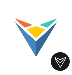Triangle tech abstract colorful logo vector