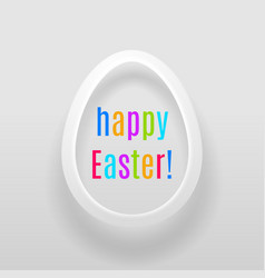 Easter egg with multicoloured words happy easter vector