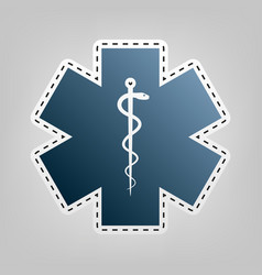 Medical symbol of the emergency or star of life vector
