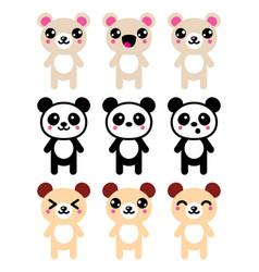 Bears-kawaii-icons-set-2 vector