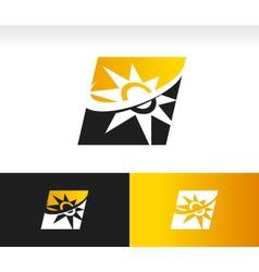 Swoosh Solar Power Panel Logo Icon vector image