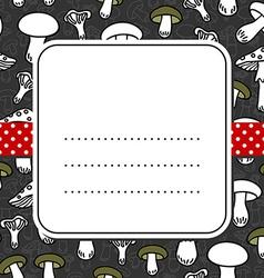 Mushroom pattern design vector