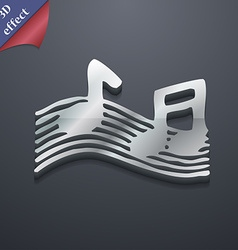 Musical note music ringtone icon symbol 3d style vector
