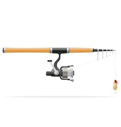 Rod spinning for fishing 01 vector
