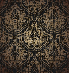 floral grunge seamless ornament vector image