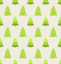 Seamless christmas pattern green fir and pine tree vector