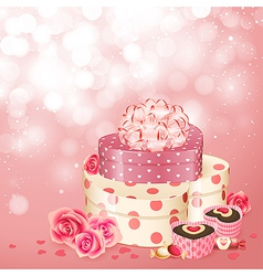 Heart shaped gifts sweets vector