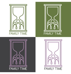 Set of concept with family connection vector