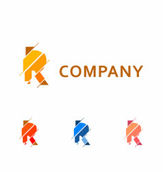 Abstract business logo with the letter r vector