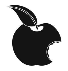 Bitten apple icon simple style vector