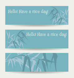 branches and bamboo leaves vector image
