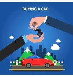Buying a car concept vector