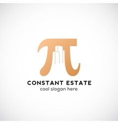 Constant estate abstract icon label or vector