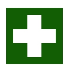 Fire emergency icons doctor vector