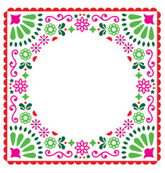 Folk greeting card mexican invitation vector