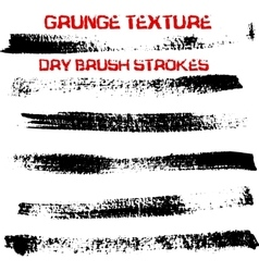 Handdrawn ink brush strokes vector
