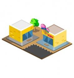 ice-cream shop vector image vector image