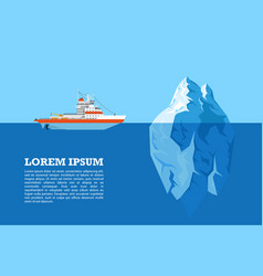 Iceberg and ship vector