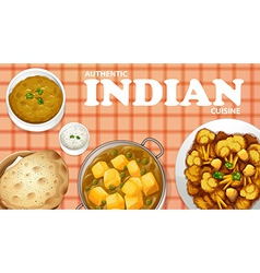 Indian food vector