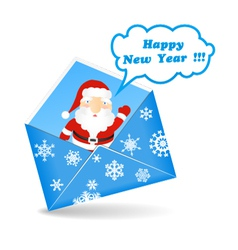 New Years message vector image vector image