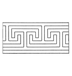 Ordinary fret band known as subordinaries vintage vector