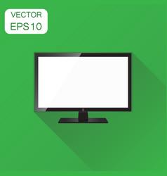 Realistic tv screen icon business concept vector
