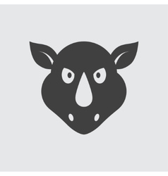 Rhinoceros icon vector