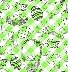 Seamless pattern of Easter symbols vector image
