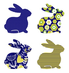 spring bunny vector image