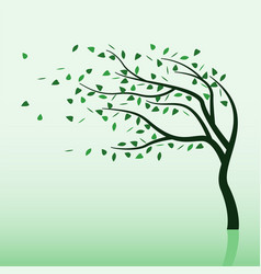 Spring storm and tree vector
