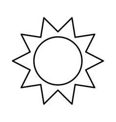 sun isolated icon design vector image