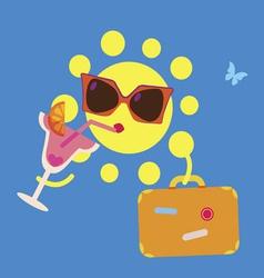 Sun on vacations vector
