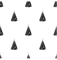 Wigwam icon in black style isolated on white vector
