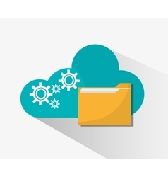 File and cloud computing design vector