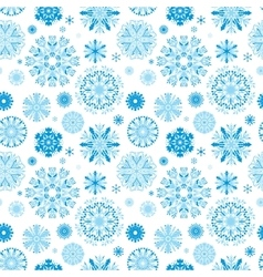 Blue Snow Pattern vector image