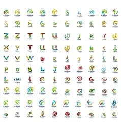 Mega set of letter logo icons vector image