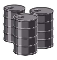 Barrels icon cartoon style vector image