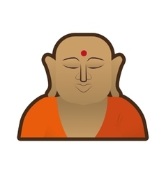 Head buddha faith thai god vector