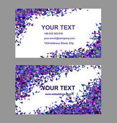 Purple chaotic business card template set vector image